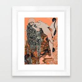 Blushing Cheeks & Sweet Fruits Framed Art Print