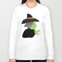 witch Long Sleeve T-shirts featuring Witch by Jessica Slater Design & Illustration