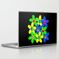 60s Laptop & iPad Skins featuring Flower Power 60s-70s by dedmanshootn