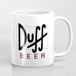 Duff Beer Logo Black Coffee Mug