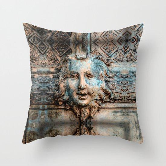 Vintage, Boston, MA Throw Pillow
