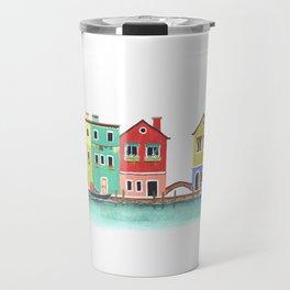 Burano Island, Italy Travel Mug