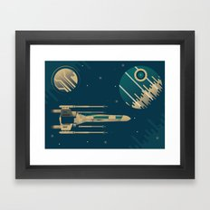 Star Wars Throwback Framed Art Print