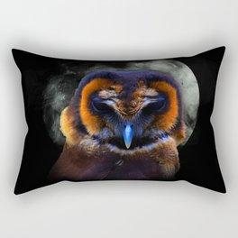 Chouette Sous La Lune / Owl Under The Moon Rectangular Pillow