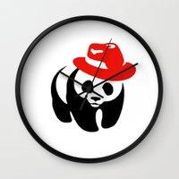 panda Wall Clocks featuring Panda by ArtSchool