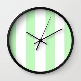 Fresh Mint - Minimal Elegance in Pastel Light Green Wall Clock