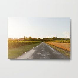 Driving in Bordeaux Metal Print