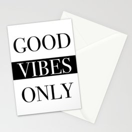 Good Vibes Only Stationery Cards