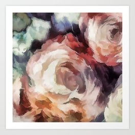 Roses of autumn. Art Print