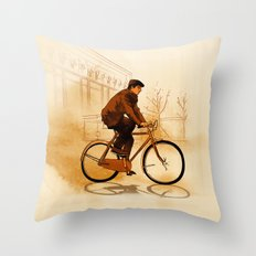The Biker Throw Pillow