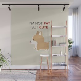 Not fat but cute corgi Wall Mural