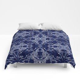 Victorian Era royal blue Comforters