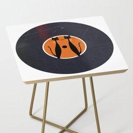 Vinyl Record Art & Design | Mid-Century Modern Art Cats Double 2.0 Side Table