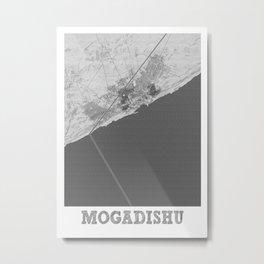 Mogadishu Pencil City Map Metal Print