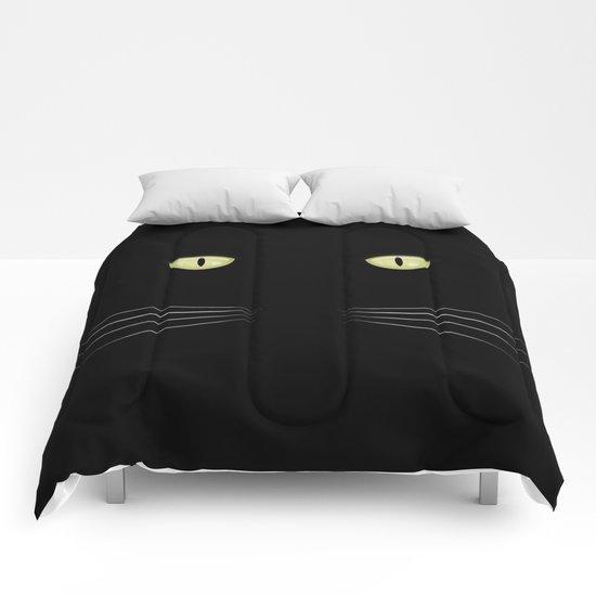 black cat Comforters