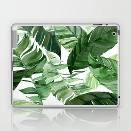 Green leaf watercolor pattern Laptop & iPad Skin