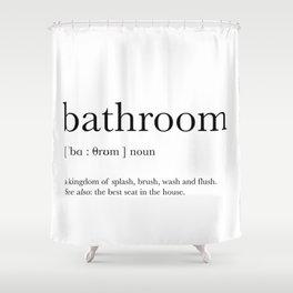 Bathroom definition Shower Curtain