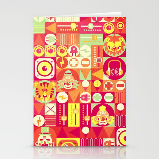 Electro Circus Stationery Cards