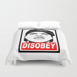 Disobey Cube Duvet Cover