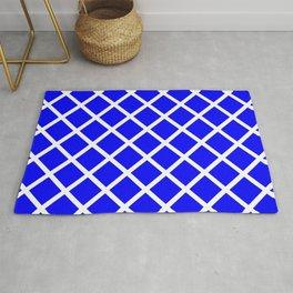 Criss-Cross (White & Blue Pattern) Rug