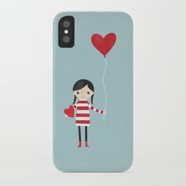 Love is in the Air - Girl iPhone Case