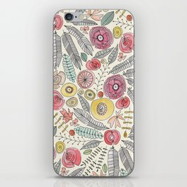 feather fleur watercolor iPhone Skin