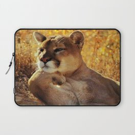 The Golden Thinker 🐾 Cougar 🐾 Laptop Sleeve