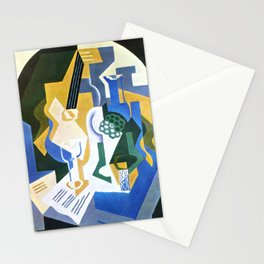 """Juan Gris """"Still life with fruit peel and mandolin"""" Stationery Cards"""