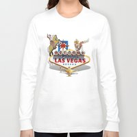 las vegas Long Sleeve T-shirts featuring Las Vegas Welcome Sign by Gravityx9