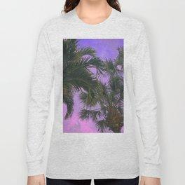 Purple Sky Palms Long Sleeve T-shirt