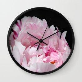 Peonia rosada 4 Wall Clock