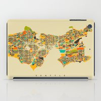 seattle iPad Cases featuring Seattle by Nicksman