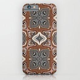 Gray Brown Taupe Beige Tan Black Hip Orient Bali Art iPhone Case