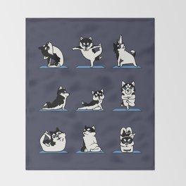 Husky Yoga Throw Blanket