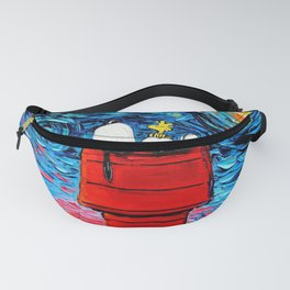 snoopy peanuts starry night Fanny Pack