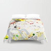 splatter Duvet Covers featuring Paint Splatter  by Gravityx9