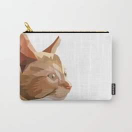 Geometric Kitten Digitally Crafted Carry-All Pouch