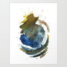 Ocean By The Border Art Print