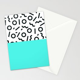 Memphis pattern 43 Stationery Cards