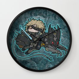 Raiden and Wolf Wall Clock