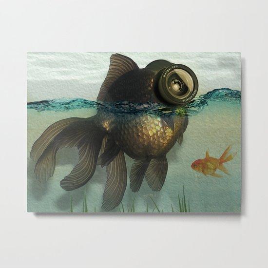 Fish eye lens Metal Print