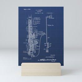 Saxophone Vintage Patent Hand Drawing Mini Art Print