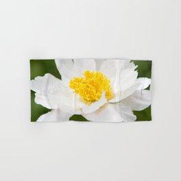 White Krinkled Peony in Bloom Hand & Bath Towel