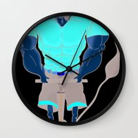 muscle Wall Clocks featuring Muscle Pump  by nightfrost4