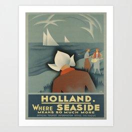 Vintage poster - Holland Art Print