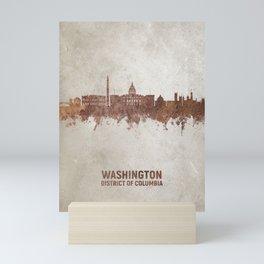 Washington DC Rust Skyline Mini Art Print