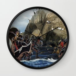 Imperial Death March  - Vintage collage Wall Clock