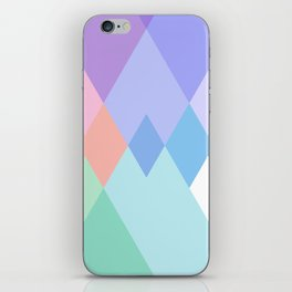 Geometric Pattern in Soft Hues iPhone Skin