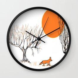 the little fox Wall Clock