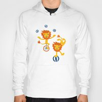 lions Hoodies featuring Lions by Kendra Shedenhelm